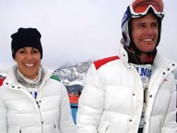 Deborah Compagnoni e Alessandro Benetton