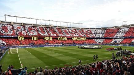 Coreografia al Calderon contro il Real Madrid. Getty