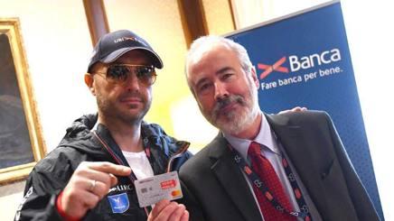 Joe Bastianich (a sinistra) pronto alla Mille Miglia 2017