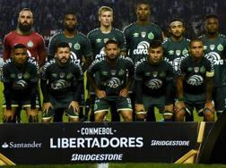 La Chape scesa in campo contro il Lanus in Copa Libertadores.