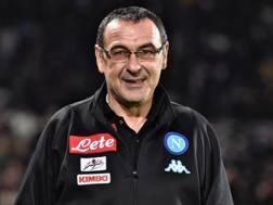 Maurizio Sarri, 58 anni, allenatore del Napoli. Ansa