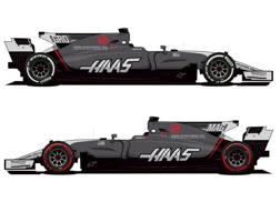 Il bozzetto della nuova livrea del Team Haas F1