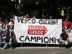 La festa di Vesco e Guerini per la vittoria della Mille Miglia 2017