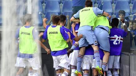 L'esultanza dei ragazzi della Sampdoria Primavera. Foto sampdoria.it