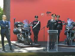 Claudio Domenicali con il Comandante Generale Tullio Del Sette e le Multistrada  dell'Arma