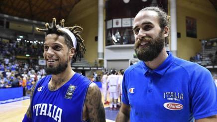Daniel Hackett e Gigi Datome in azzurro. Ciamillo-Castoria
