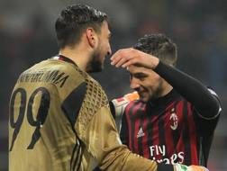 Gianluigi Donnarumma e Mattia De Sciglio. Getty