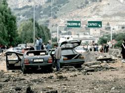 Il luogo della strage del 23 maggio 1992. Ansa