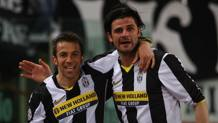 Alessandro Del Piero e Vincenzo Iaquinta nella stagione 2008-09. Lapresse