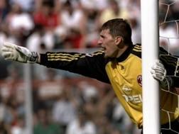 Christian Abbiati, oggi 39enne, durante Perugia-Milan 1-2 del 23 maggio 1999. Twitter