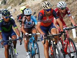 Vincenzo Nibali, 32 anni, davanti a Quintana, Pozzovivo e Zakarin. Afp
