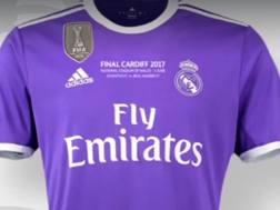 La maglia viola che il Real indosserà nella finale del 3 giugno a Cardiff