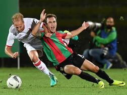 Lorenzo Di Livio, 20 anni, con la maglia della Ternana: è in prestito dalla Roma. LaPresse