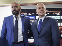 L'amministratore delegato della Roma, Umberto Gandini, con il neo d.s. Monchi. Getty Images