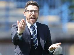 Il tecnico del Sassuolo Eusebio Di Francesco: quattro anni da giocatore con la Roma, dal 1997 al 2001. Getty Images