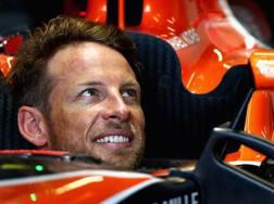 Jenson Button di nuovo in auto sulla McLaren. Getty