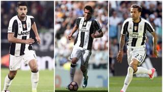 Khedira, Mandzukic e Dani Alves hanno già alzato la Champions League. LaPresse/Afp