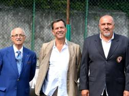 Al centro, Pier Luigi Betturri, presidente del Trastevere