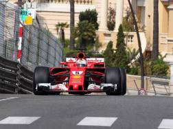 Sebastian Vettel a Montecarlo. LaPresse
