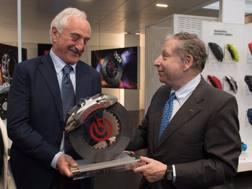 Il presidente Brembo Alberto Bombassei e il presidente Fia Jean Todt