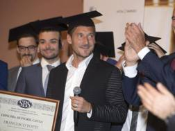 Francesco Totti alla cerimonia di consegna del Diploma Honoris Causa dell'Università Ca' Foscari.