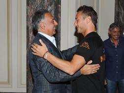 James Pallotta e Francesco Totti. Ansa