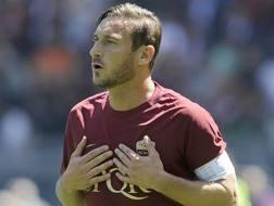 Francesco Totti, 40 anni, domani giocherà l'ultima partita con la Roma. Getty