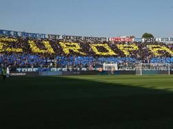 La coreografia atalantina all'Atleti Azzurri d'Italia