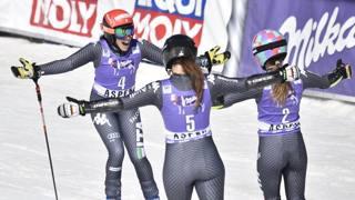 Brignone, Goggia, Bassino: il tris gigante nell'ultima gara della scorsa stagione