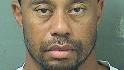 La foto segnaletica di Tiger Woods, 41 anni., dopo l'arresto. Reuters