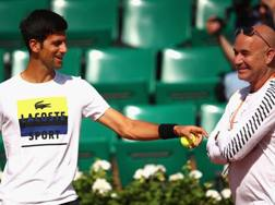Novak Djokovic e Andrea Agassi a Parigi. Getty