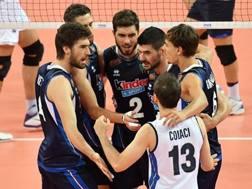 L'esultanza dell'Italia per il 3-0 contro l'Iran