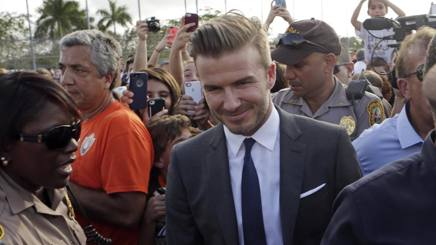 David Beckham, 42 anni. Ap
