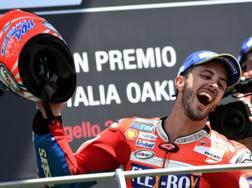 Andrea Dovizioso felice per la vittoria del Mugello. Afp