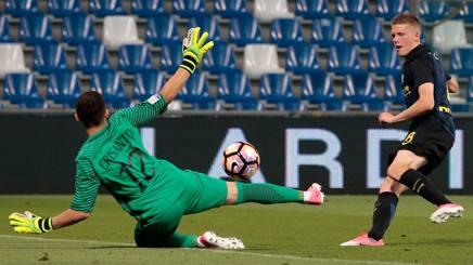 Il diagonale di Emmers che ha deciso la semifinale tra Inter e Roma. Getty