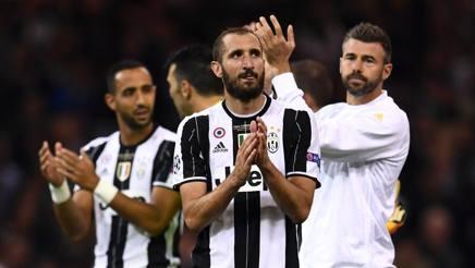 La delusione di Giorgio Chiellini dopo la finale di Cardiff. Getty