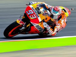 Marc Marquez in azione sulla sua Honda. Lapresse