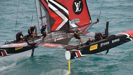 Team New Zealand in virata