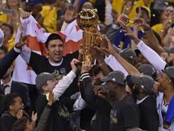 I Warriors festeggiano il loro 5° titolo Nba. LAPRESSE