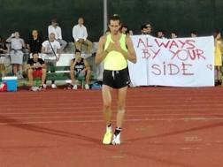 Ecco Gianmarco Tamberi al primo salto. Sorpresona!