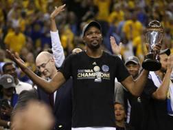 Kevin Durant, MVP delle Finals. LaPresse