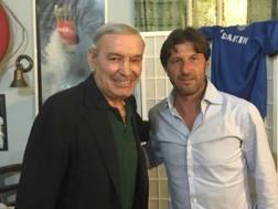 Gigi Riva, 72 anni, a sinistra, e Massimo Rastelli, 48 anni.