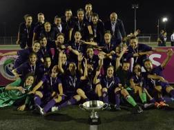 La festa della Fiorentina per la Coppa Italia vinta 1-0 contro il Brescia in finale