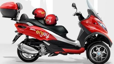 Lo scooter in condivisione della Enjoy