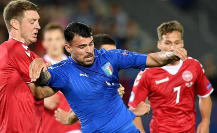 Risultati immagini per petagna gol danimarca italia