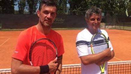 Paolo Maldini e Stefano Landonio