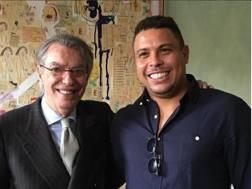 Moratti e Ronaldo  in tempi recenti. Arch. Gazzetta
