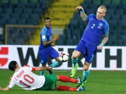 Rick Karsdorp con la maglia dell'Olanda. AFP