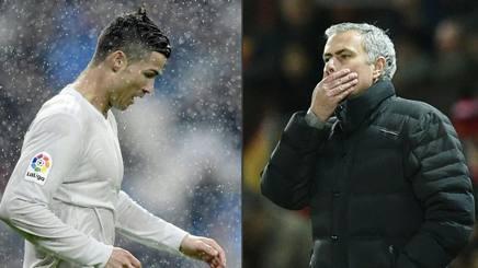 Cristiano Ronaldo e Mourinho, accomunati dai problemi con il fisco spagnolo. Afp