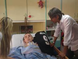 Pippo Inzaghi regala la sua maglia ad Angelo Riccio, suo grande fan affetto da neurofibromatosi. Twitter
